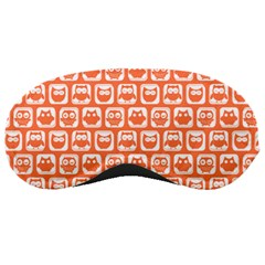 Coral And White Owl Pattern Sleeping Masks by creativemom