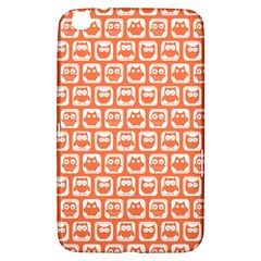 Coral And White Owl Pattern Samsung Galaxy Tab 3 (8 ) T3100 Hardshell Case  by creativemom