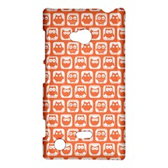 Coral And White Owl Pattern Nokia Lumia 720 by creativemom