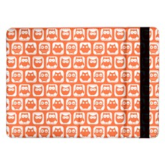 Coral And White Owl Pattern Samsung Galaxy Tab Pro 12 2  Flip Case by creativemom