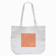 Coral And White Owl Pattern Tote Bag (white)  by creativemom