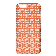Coral And White Owl Pattern Apple Iphone 6 Plus/6s Plus Hardshell Case