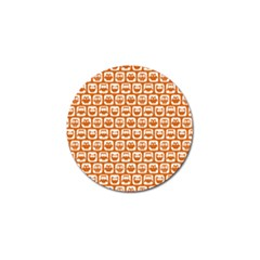 Orange And White Owl Pattern Golf Ball Marker (4 Pack) by creativemom