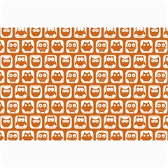 Orange And White Owl Pattern Collage 12  X 18  by creativemom