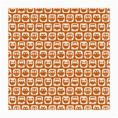 Orange And White Owl Pattern Medium Glasses Cloth (2 Side) by creativemom