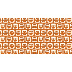 Orange And White Owl Pattern You Are Invited 3d Greeting Card (8x4)