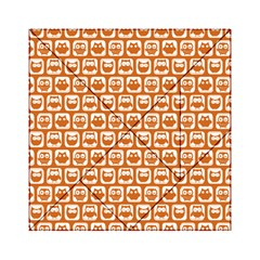 Orange And White Owl Pattern Acrylic Tangram Puzzle (6  x 6 ) by creativemom