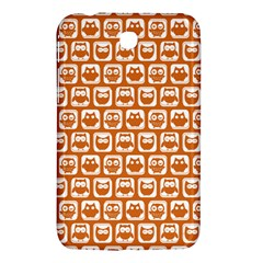 Orange And White Owl Pattern Samsung Galaxy Tab 3 (7 ) P3200 Hardshell Case  by creativemom