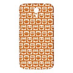 Orange And White Owl Pattern Samsung Galaxy Mega I9200 Hardshell Back Case by creativemom
