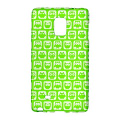 Lime Green And White Owl Pattern Galaxy Note Edge by creativemom