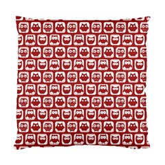 Red And White Owl Pattern Standard Cushion Cases (two Sides)  by creativemom
