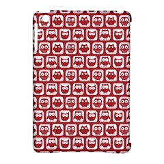 Red And White Owl Pattern Apple Ipad Mini Hardshell Case (compatible With Smart Cover) by creativemom