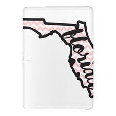 Florida Map Pride Chevron Samsung Galaxy Tab Pro 10 1 Hardshell Case by CraftyLittleNodes