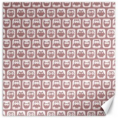 Light Pink And White Owl Pattern Canvas 20  x 20