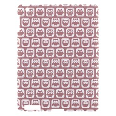 Light Pink And White Owl Pattern Apple Ipad 3/4 Hardshell Case by creativemom
