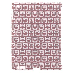 Light Pink And White Owl Pattern Apple Ipad 3/4 Hardshell Case (compatible With Smart Cover) by creativemom
