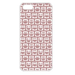 Light Pink And White Owl Pattern Apple Iphone 5 Seamless Case (white) by creativemom