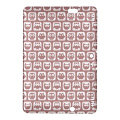 Light Pink And White Owl Pattern Kindle Fire HDX 8.9  Hardshell Case by creativemom