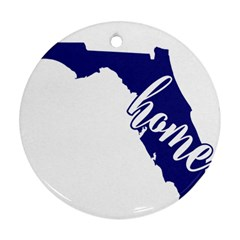 Florida Home  Ornament (round)  by CraftyLittleNodes