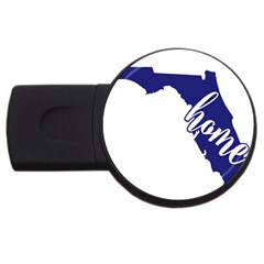 Florida Home  USB Flash Drive Round (1 GB)  by CraftyLittleNodes