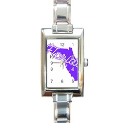Florida Home State Pride Rectangle Italian Charm Watches by CraftyLittleNodes