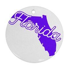 Florida Home State Pride Ornament (round)  by CraftyLittleNodes