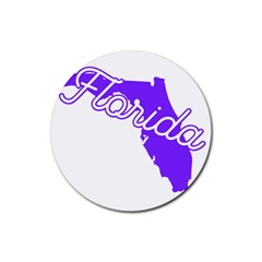 Florida Home State Pride Rubber Round Coaster (4 Pack)