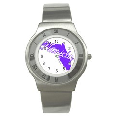 Florida Home State Pride Stainless Steel Watches by CraftyLittleNodes