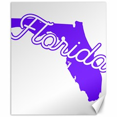 Florida Home State Pride Canvas 8  X 10  by CraftyLittleNodes