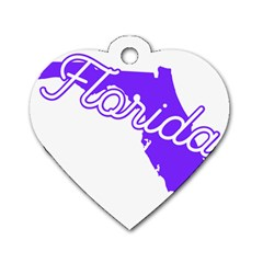 Florida Home State Pride Dog Tag Heart (two Sides) by CraftyLittleNodes