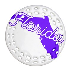 Florida Home State Pride Ornament (round Filigree)  by CraftyLittleNodes