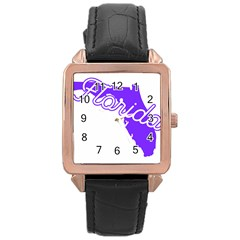 Florida Home State Pride Rose Gold Watches by CraftyLittleNodes