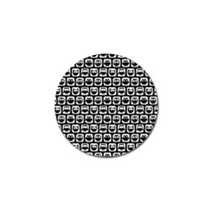 Black And White Owl Pattern Golf Ball Marker by creativemom