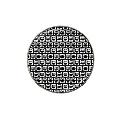 Black And White Owl Pattern Hat Clip Ball Marker (4 Pack) by creativemom