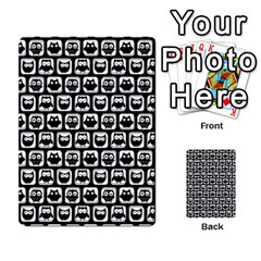 Black And White Owl Pattern Multi Purpose Cards (rectangle)  by creativemom