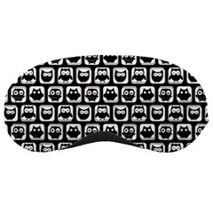 Black And White Owl Pattern Sleeping Masks by creativemom
