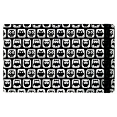 Black And White Owl Pattern Apple Ipad 2 Flip Case by creativemom