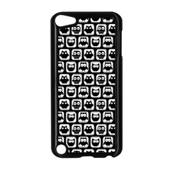 Black And White Owl Pattern Apple Ipod Touch 5 Case (black) by creativemom
