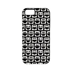 Black And White Owl Pattern Apple Iphone 5 Classic Hardshell Case (pc+silicone) by creativemom