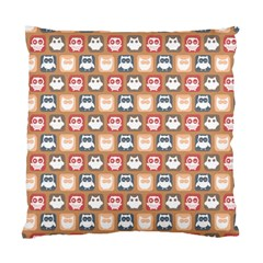Colorful Whimsical Owl Pattern Standard Cushion Cases (two Sides)  by creativemom