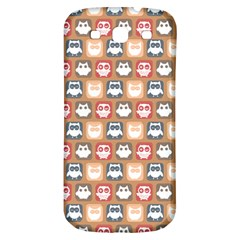 Colorful Whimsical Owl Pattern Samsung Galaxy S3 S Iii Classic Hardshell Back Case by creativemom