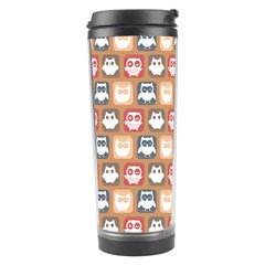Colorful Whimsical Owl Pattern Travel Tumblers by creativemom