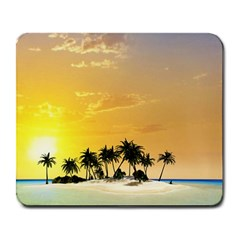 Beautiful Island In The Sunset Large Mousepads by FantasyWorld7