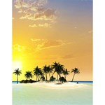 Beautiful Island In The Sunset Large Memo Pads 4.125 x5.5  Memopad