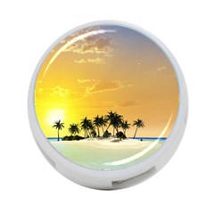 Beautiful Island In The Sunset 4 Port Usb Hub (one Side) by FantasyWorld7