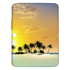 Beautiful Island In The Sunset Samsung Galaxy Tab 3 (10 1 ) P5200 Hardshell Case  by FantasyWorld7