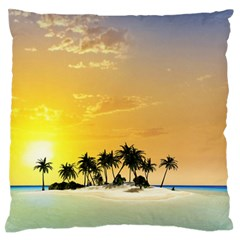 Beautiful Island In The Sunset Standard Flano Cushion Cases (two Sides)  by FantasyWorld7