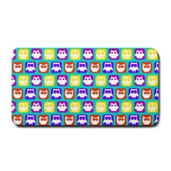 Colorful Whimsical Owl Pattern Medium Bar Mats by creativemom