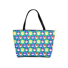 Colorful Whimsical Owl Pattern Shoulder Handbags by creativemom