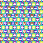 Colorful Whimsical Owl Pattern BELIEVE 3D Greeting Card (8x4)  Inside
